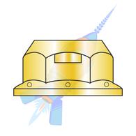 3/8-16 Regular Flange Top Lock Hex Nut Grade G Zinc Yellow