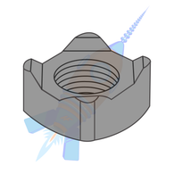 M6-1.0 Din 928 Metric Square Weld Nut Steel Plain