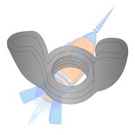10-32  Stamped Wing Nut Black Oxide