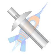 1/4 x 1-1/8 Brazier Head Masonry Aluminum Rivet