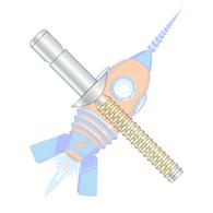 1/4 x .350-.625 Protruding Hd Struct Rivet Alum Sleeve Clear Chromate