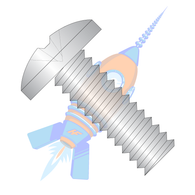 1/4-20 x 1/2 Phillips Binding Undercut Machine Screw Fully Threaded 18-8 Stainless Steel