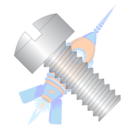 0-80 x 7/32 Slotted Fillister Machine Screw Fully Threaded 18-8 Stainless Steel