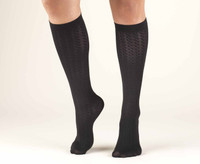 Truform Women Trouser Socks - Knee High 15-20mmHg (Cable pattern)