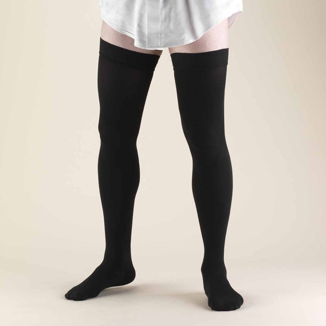 70fd4fd07 Truform Men Dress Socks - Thigh High 20-30mmHg - Select Socks Inc.