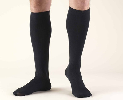Truform Men Dress Socks - Knee High 8-15mmHg