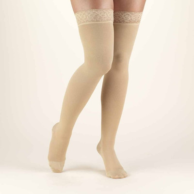 Truform Classic Medical - Thigh High 20-30mmHg (w/ Silicone Lace Top)