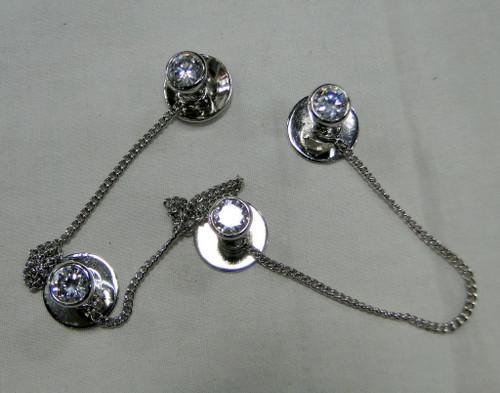 Kurta buttons 925 sterling silver & Zircon set buttons set-11806