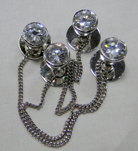 Kurta buttons 925 sterling silver & Zircon set buttons set-11808