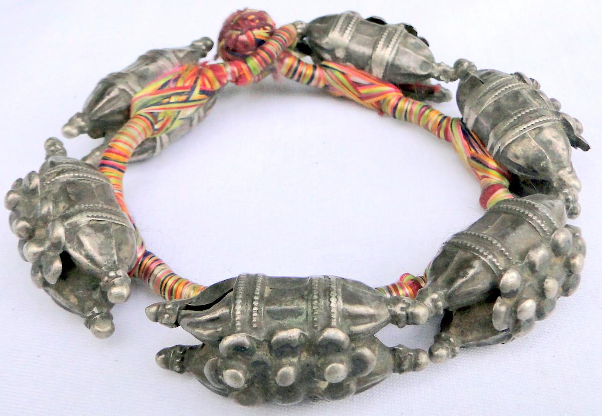 Ethnic Tribal Old silver Beads Bracelet Rajasthan India