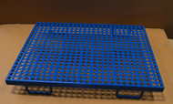 The Shor-Line PVC Coated Cage floor has round holes.