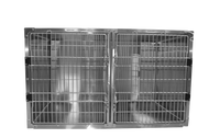 "This is a picture of Shor-Line's 48""Wx 30""H Stainless Steel Double Door Cage. The unit for sale looks like this but has some minor imperfections and scratches."