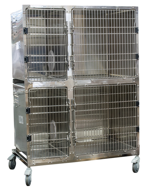 Stainless Steel 4' Cage Assembly with Kat Portal