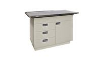 """46"""" Almond Cabinet with Right Hand Door"""