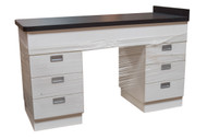 6 Drawer Cabinet with Stainless Steel Top, White