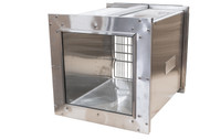 Shor-Line Stainless Steel Glass Back Cage