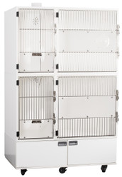 """Feline Comfort Suite Assembly, 48""""W, with storage doors, AS-IS"""
