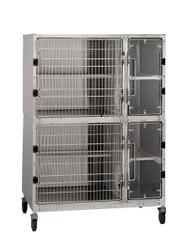 Stainless Steel Cat Suite, Double Unit (D902.0103.24)
