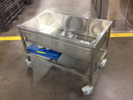 This Shor-Line mobile tub comes with the PVC-coated floor shown.