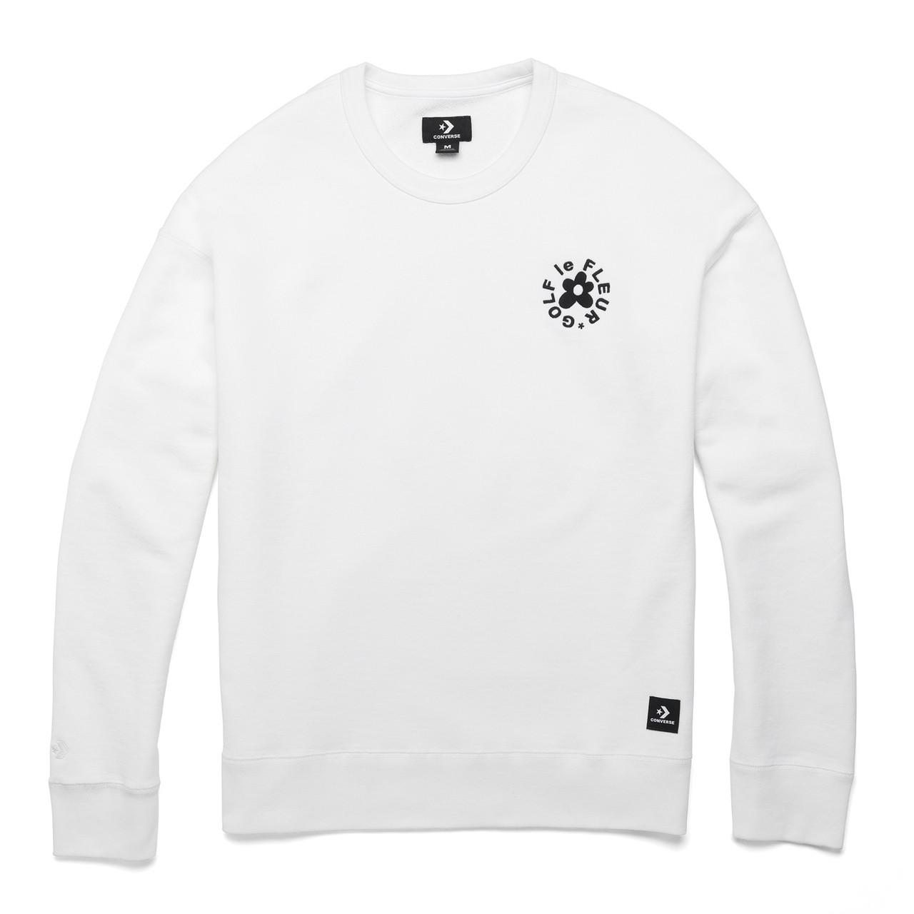 Golf Le Fleur Essential Embroidered Crewneck White