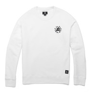 GOLF Le FLEUR ESSENTIAL EMBROIDERED CREWNECK - WHITE