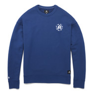 GOLF Le FLEUR ESSENTIAL EMBROIDERED CREWNECK - BLUE