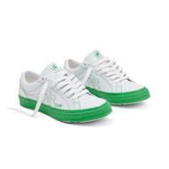 GOLF LE FLEUR* OX COLORBLOCK - WHITE/KELLY GREEN