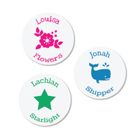 Round Iron On Labels for super-cute labeling of your kids' clothing