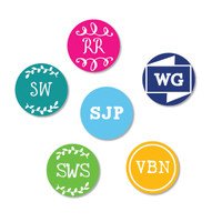 Monogram Dot Stick On Labels for naming electronics, chargers, stationery etc