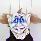 Handmade Marionette - The Halloween Elf