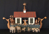 Wooden Noah's Ark - Small White Traditional Ark