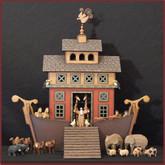 Wooden Noah's Ark #2 - Drawer Ark with Drawbridge