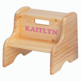 Little Colorado Kid's Solid Wood Step Stool - Natural Finish