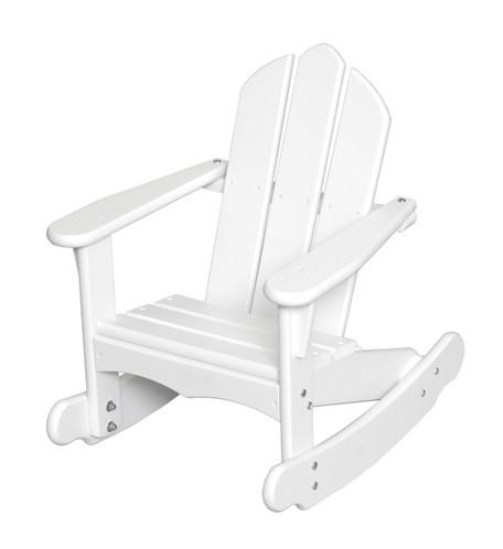 Little Colorado Child's Adirondack Rocking Chair - White
