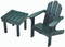 Little Colorado Adirondack Chair and End Table - Green