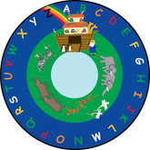Learning Carpets Noah's Ark Cut Pile Rug - Round