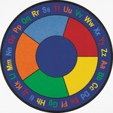 Learning Carpets ABC Squares Cut Pile Rug - Round