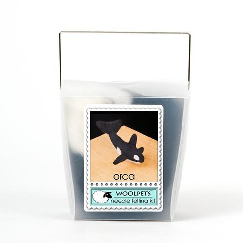 WoolPets Orca Needle Felting Kit.