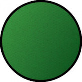 Learning Carpets Solid Green Cut Pile Rug - Round