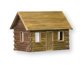 Crockett's Log Cabin Unfinished Dollhouse Kit