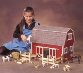 Ruff'n Rustic All American Barn Unfinished Dollhouse Kit