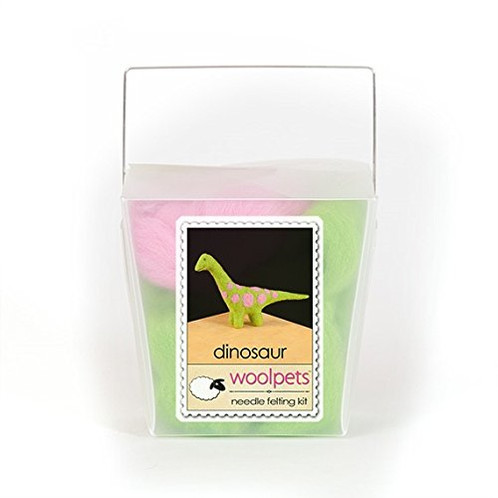 WoolPets Dinosaur Needle Felting Kit.