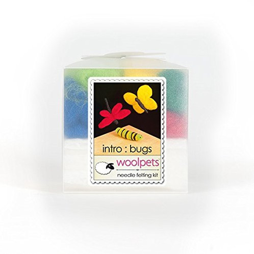 WoolPets Bugs Needle Felting Starter Kit including Foam Pad and Detailed Instructions.