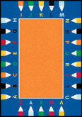 Learning Carpets ABC Pencils Cut Pile Rug - Rectangular