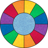 Learning Carpets Rainbow Cut Pile Rug - Round