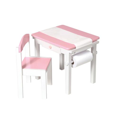 Guidecraft Art Table & Chair Set - Pink (G98048)