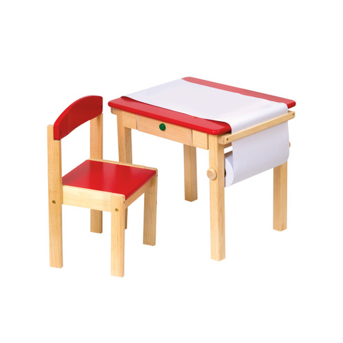 Guidecraft Art Table & Chair Set - Red (G98049)
