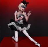 Handmade Wooden Marionette - Columbina Ballerina