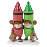 Limited Edition Wee Forest Folk Miniatures - Christmas Crayons (M-533a)