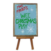 Wee Forest Folk Miniature - Wee Christmas Play Easel (A-32)